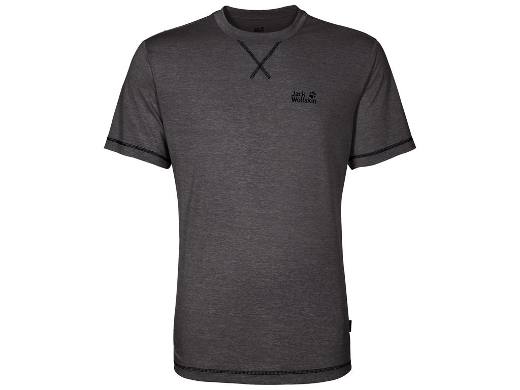 Jack Wolfskin Crosstrail T - T-Shirt Hr. Str. L - Dark steel thumbnail
