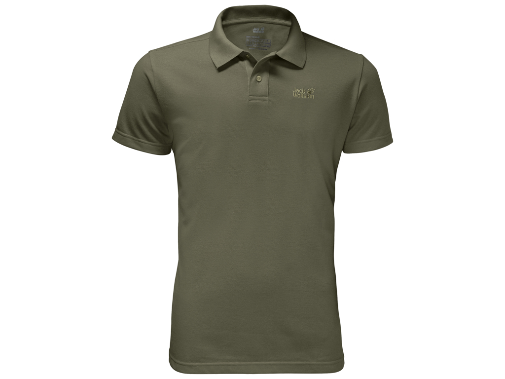 Jack Wolfskin Pique Polo - Hr. Str. XL - Woodland green thumbnail