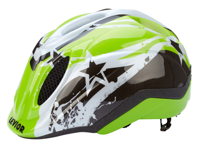 Levior cykelhjelm Primo - Grøn Stars