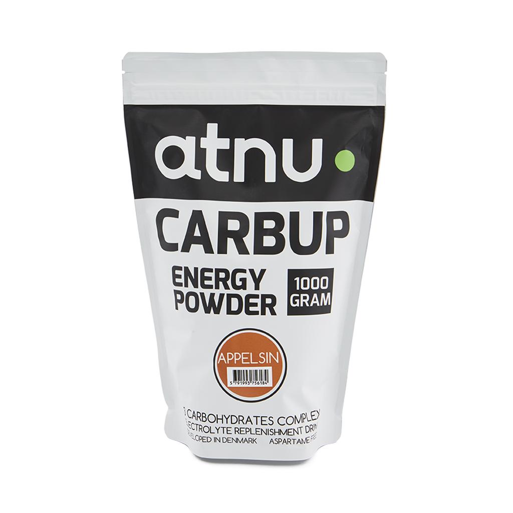 Atnu Carbup Energipulver - Appelsin - 1000 gram | Energy drinks