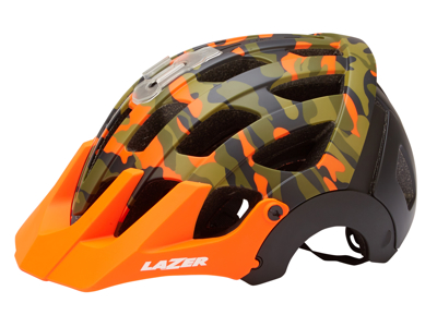 Lazer - Cykelhjelm - Revolution - Matorange/camouflage sort - 55-59 cm