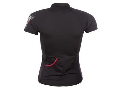 Sensor Entry - Cykeltrøje med korte ærmer til damer - Sort