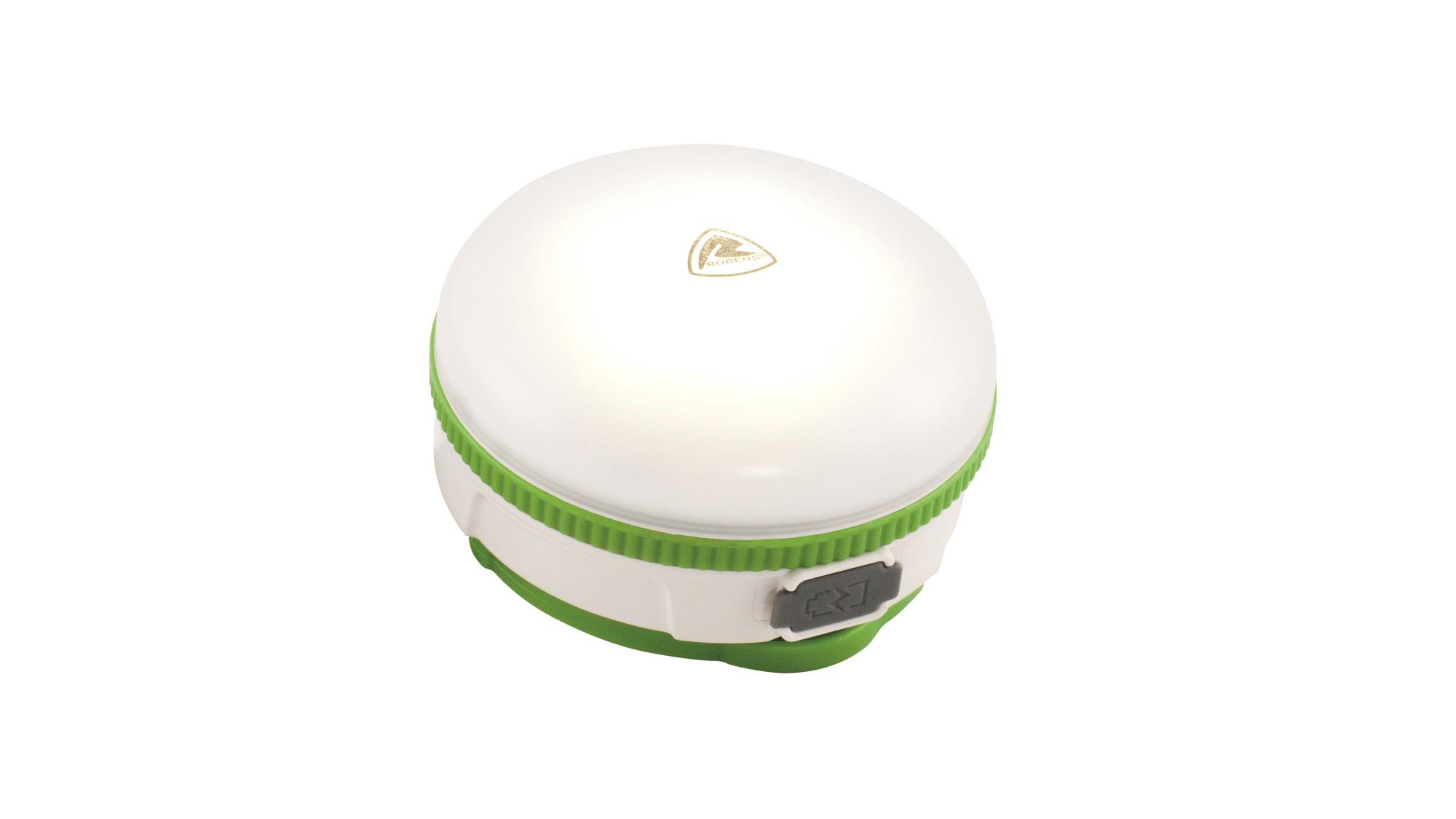 Robens Beacon Batch Rechargeable - Genopladelig Lanterne - Hvid/Grøn   Flashlight