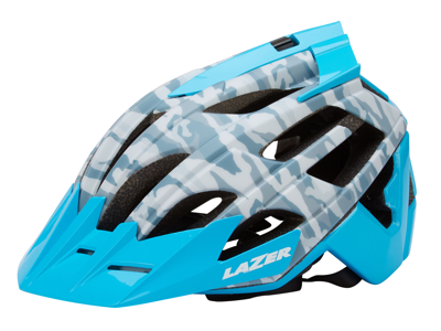 Lazer - Cykelhjelm - Oasiz - Matgrå camouflage blå - 55-59 cm