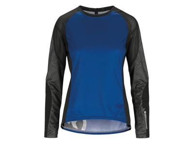 Assos Trail Womens Jersey - Dame MTB cykeltrøje med lange ærmer - Blå