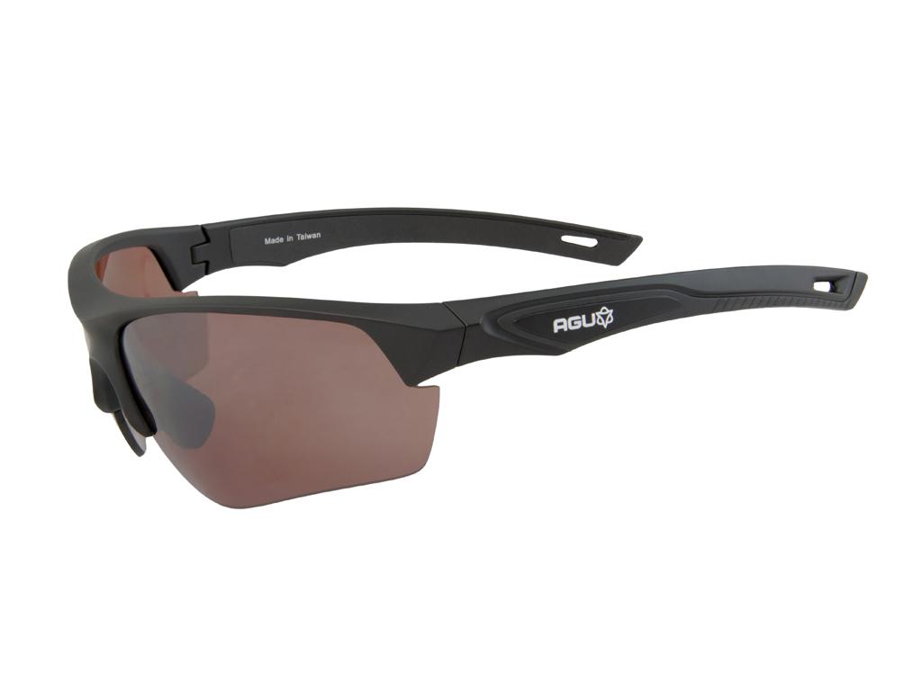 Image of   AGU Medina HD - Sports- og cykelbriller med 3 sæt linser - Sort