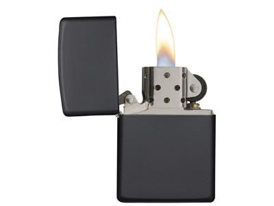Zippo Black Matte - Lighter - Mat sort