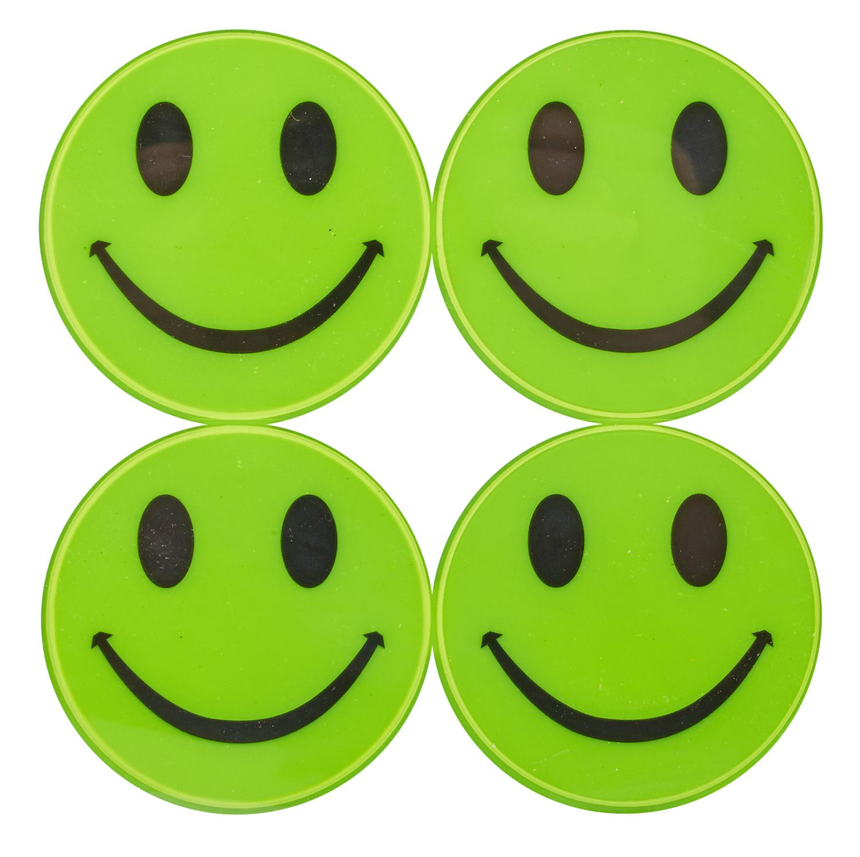 Atredo - Refleksark - Smiling Face - 8 stk.- Gul   Reflectives