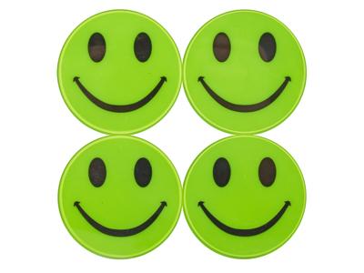 Atredo - Refleksark - Smiling Face - 8 stk.- Gul
