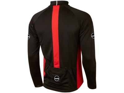 Diadora - Firenze cykeltrøje med lange ærmer - Sort med rød