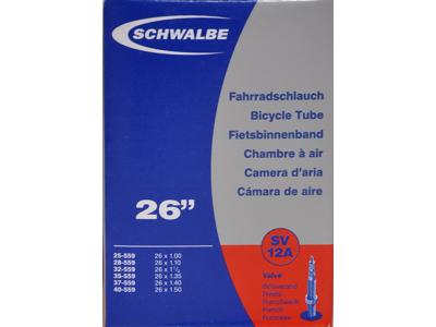 Schwalbe slange 26 x 1,00-1,50 med Racer ventil SV12A