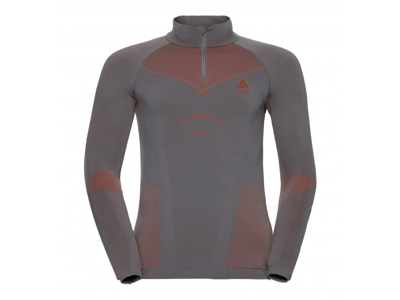 Odlo - Evolution Warm Shirt Turtle Neck - Herre - Grå/Orange