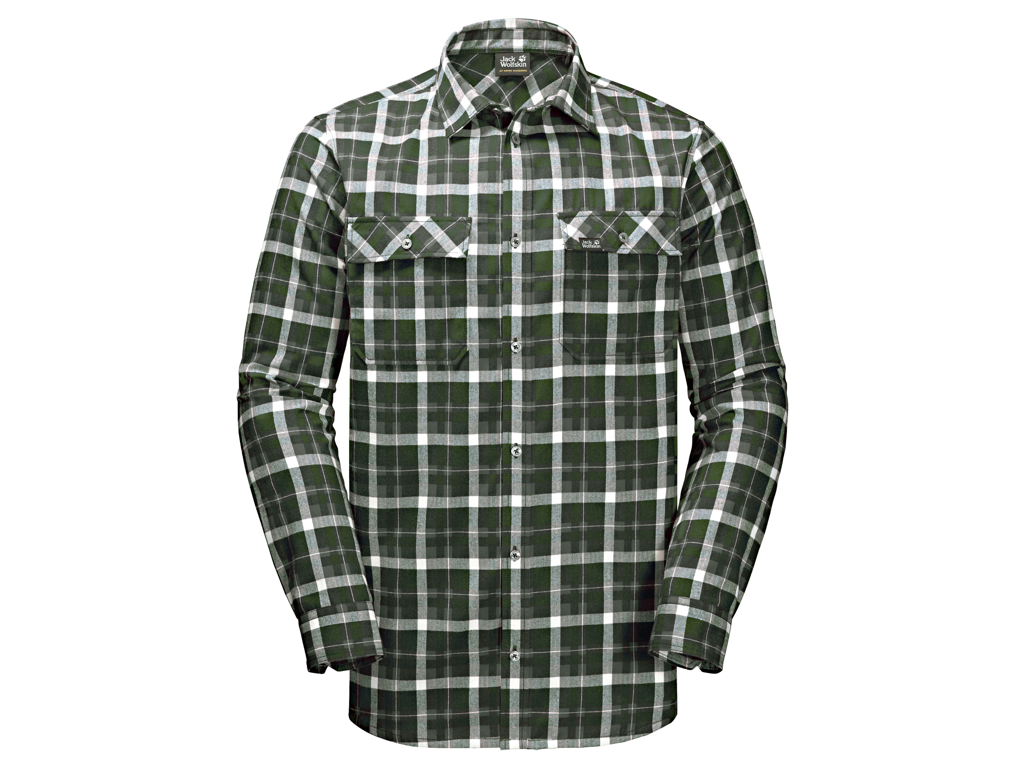 Jack Wolfskin Bow Valley Shirt - Skjorte herre - Tern Grøn
