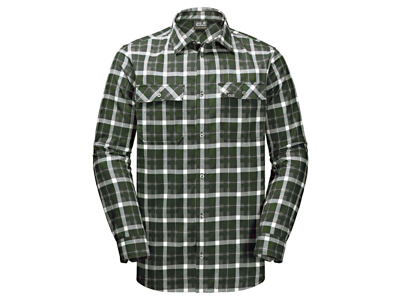 Jack Wolfskin Bow Valley Shirt - Skjorta herr - Rutig Grön - Str. XXL