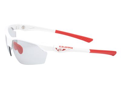Exustar - Löpar- och cykelglasögon - Fotokromatiska linser - Vita och röda