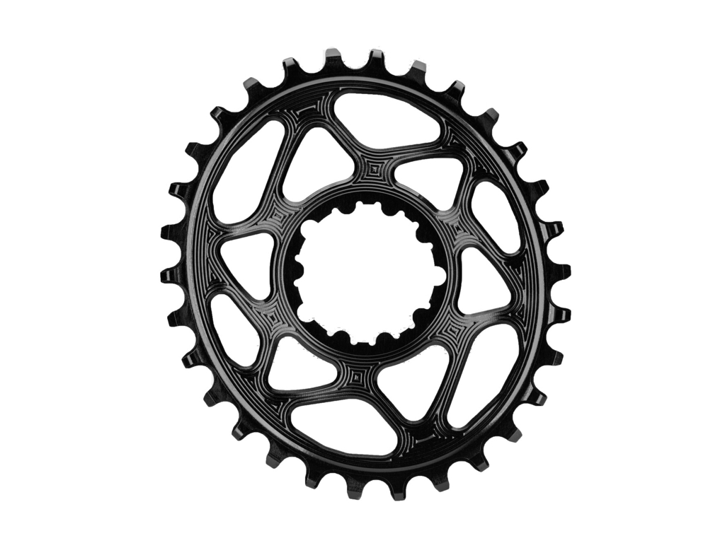Image of absoluteBLACK Oval klinge - Sram - Direct mount - Offset 6 mm - 30 tænder - Sort
