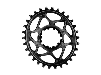 absoluteBLACK Oval klinge - Sram - Direct mount - Offset 6 mm - 30 tænder - Sort