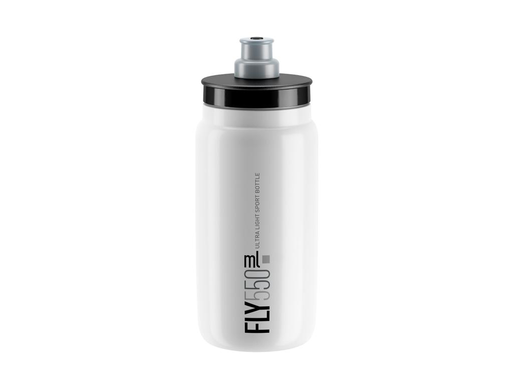 Image of   Elite Fly - Drikkedunk 550ml - 100% Biologisk nedbrydelig - Hvid med grå logo