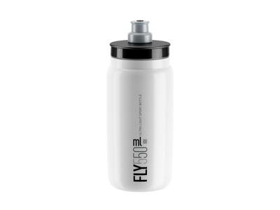 Elite Fly - Vattenflaska 550ml - 100% Biologiskt nedbrytbar - Vit med grå logga
