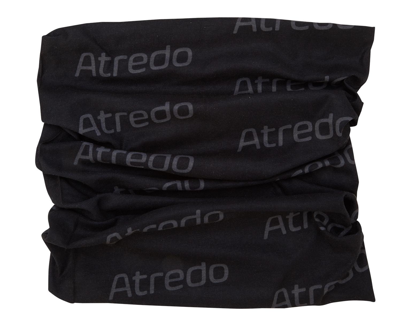 Atredo - Halsedisse - Polyester - Sort med grå logoer   Headwear