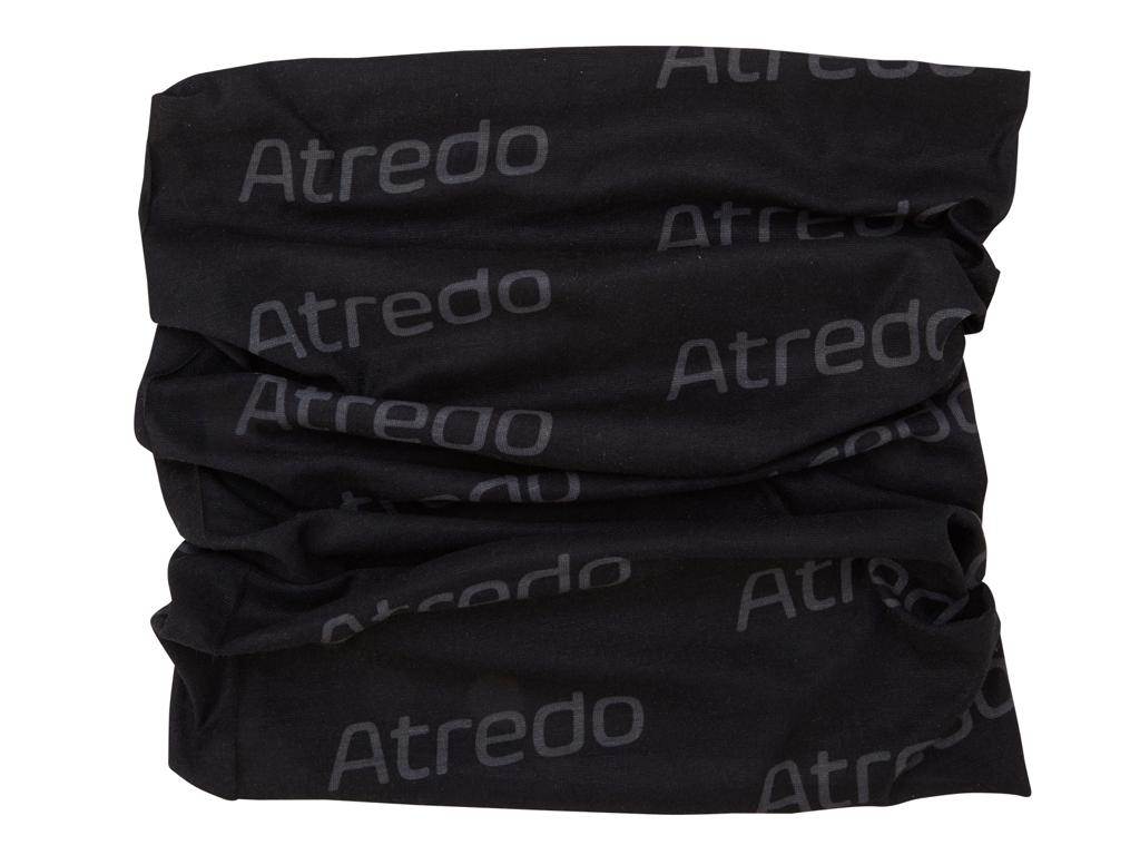 Image of   Atredo - Halsedisse - Polyester - Sort med grå logoer