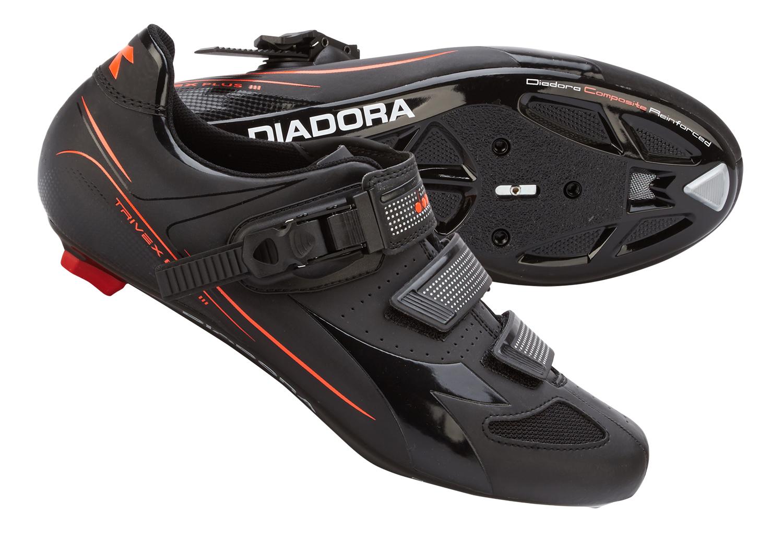 Diadora - Cykelsko Trivex Plus III Unisex - Sort/Rød | Shoes