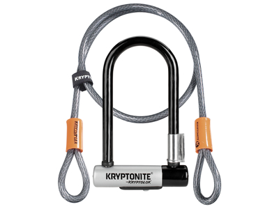 Kryptonite bygellås med vajer - Kryptolok Mini 7 - U-Lock med Flex