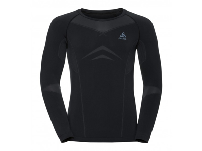 Odlo - Evolution light shirt crew neck - Herre - Sort/grå