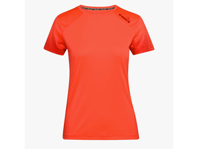 Diadora - L. X-run SS T-shirt - Løbe t-shirt - Dame - Koral