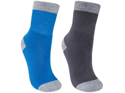 Trespass Dipping - Junior vandrestrømper - 2-pak - Blå/sort
