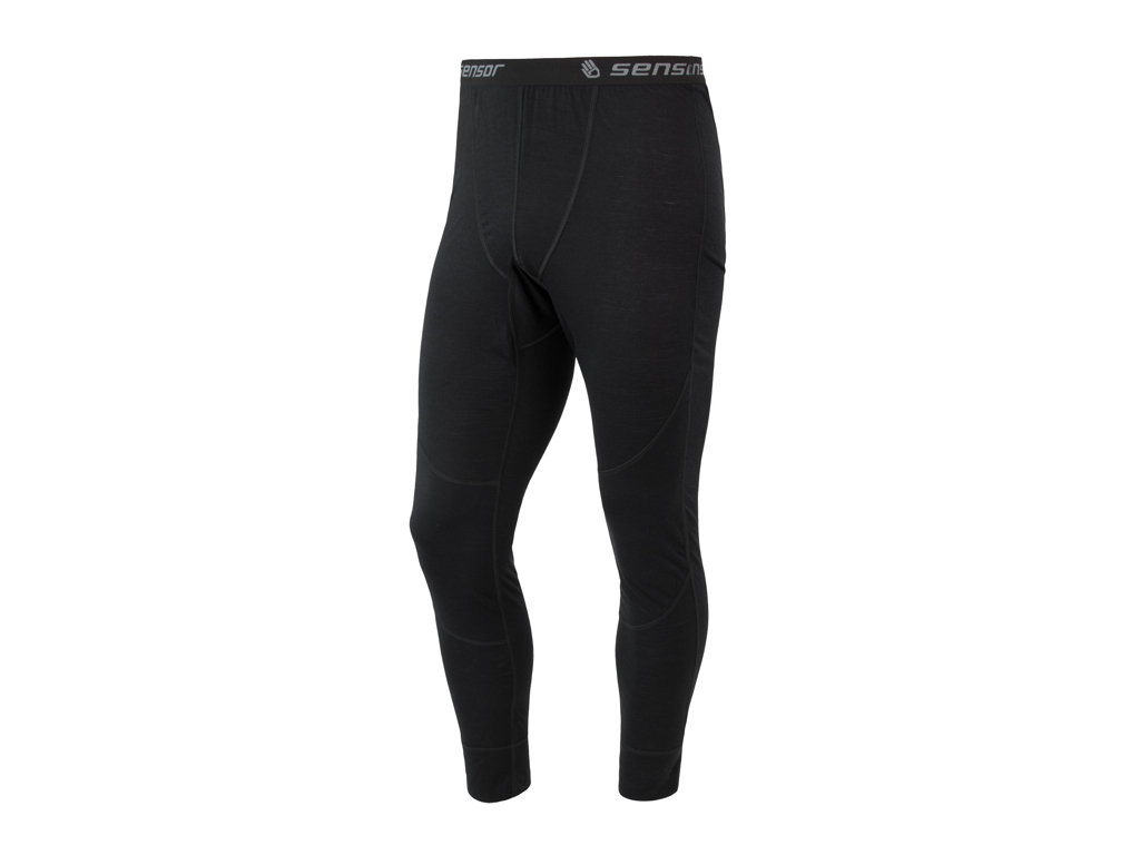 Image of   Sensor Merino Air Pants - Uldunderbukser m . Lange ben - Mand - Sort - Str. XL