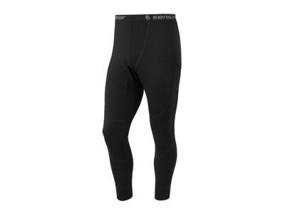 Sensor Merino Air Pants - Ullunderkläder w. Långa ben - Hane - Svart
