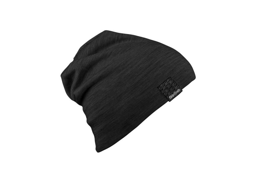 Image of   GripGrab Midweight Merino Beanie - Hue - Sort - One Size