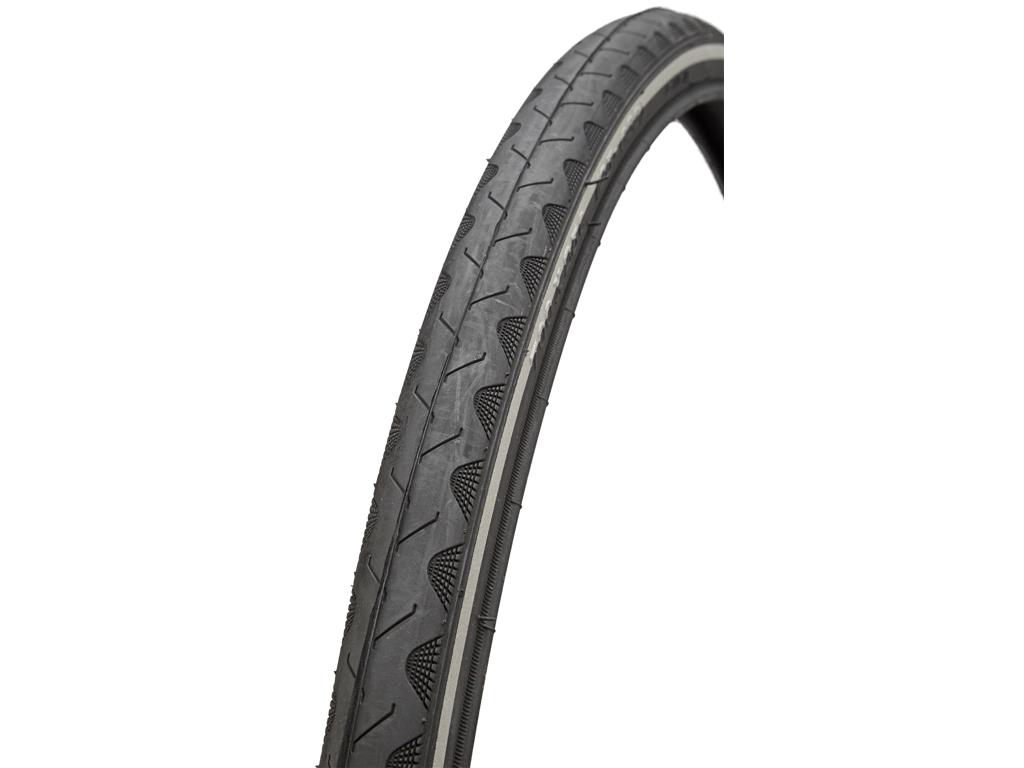 Atredo dæk - 2.5 mm punkteringsbeskyttelse - Str.700x25C(25-622) - Sort/refleks