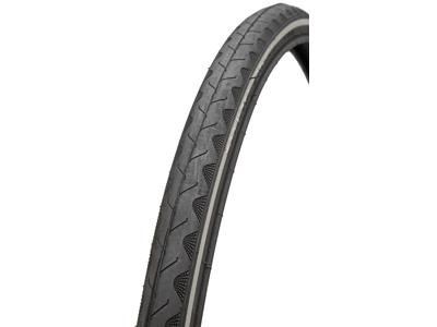 Atredo dekk - 2,5 mm punkteringsbeskyttelse - Størrelse 700x25C (25-622) - Svart / reflekterende