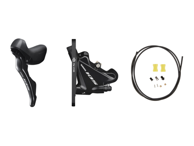 Shimano 105 STI og hydraulisk bremsegreb small venstre sort - ST-R7025L og BR-R7070F