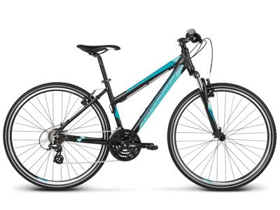 Kross Evado 1.0 - Citybike - Dame - 21 gear - Matsort/turkis