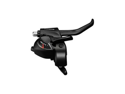 Shimano Tourney - Skifte- og bremsegreb højre - Til 6 gear - med display - Sort
