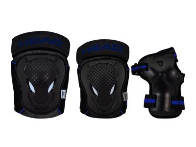 Hodebeskyttelsessett - svart / blå