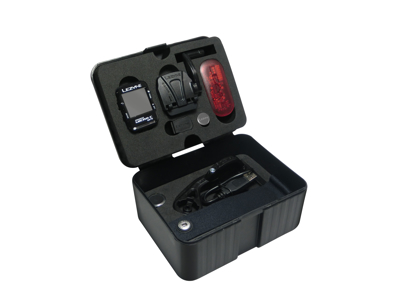Lezyne Micro Color GPS HRSC Loaded - Cykelcomputer - Bundle med pulsbælte og sensorer