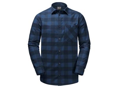 Jack Wolfskin Red River Shirt - Skjorte herre - Tern Blå