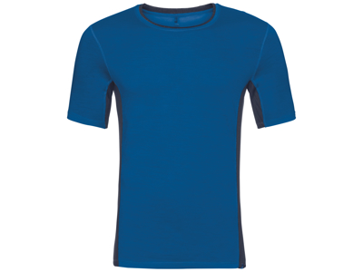 Odlo - Natural + Ceramiwool light Suw Top - Løbe t-shirt - Herre - Blå