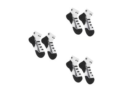 Diadora 3 Lightweight Quarter Socks - Løbesok 3 pk. - Hvid/Sort