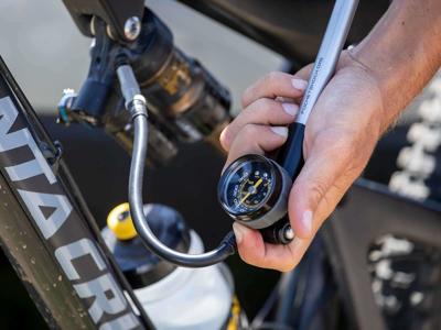 Topeak Pocket Shock DXG - Forgaffelpumpe - 360 psi