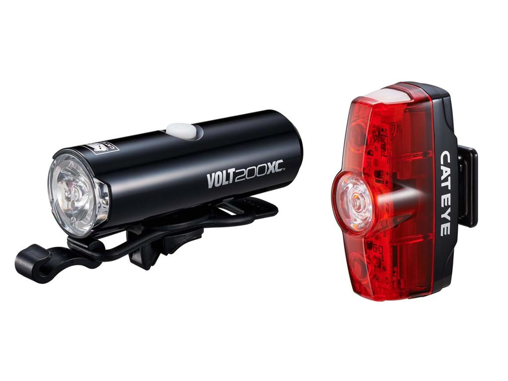 Cateye Volt200XC + Rapid Mini - Lygtesæt - USB opladelig
