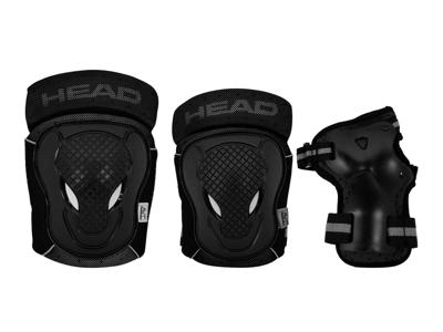Hodebeskyttelsessett - svart / grå