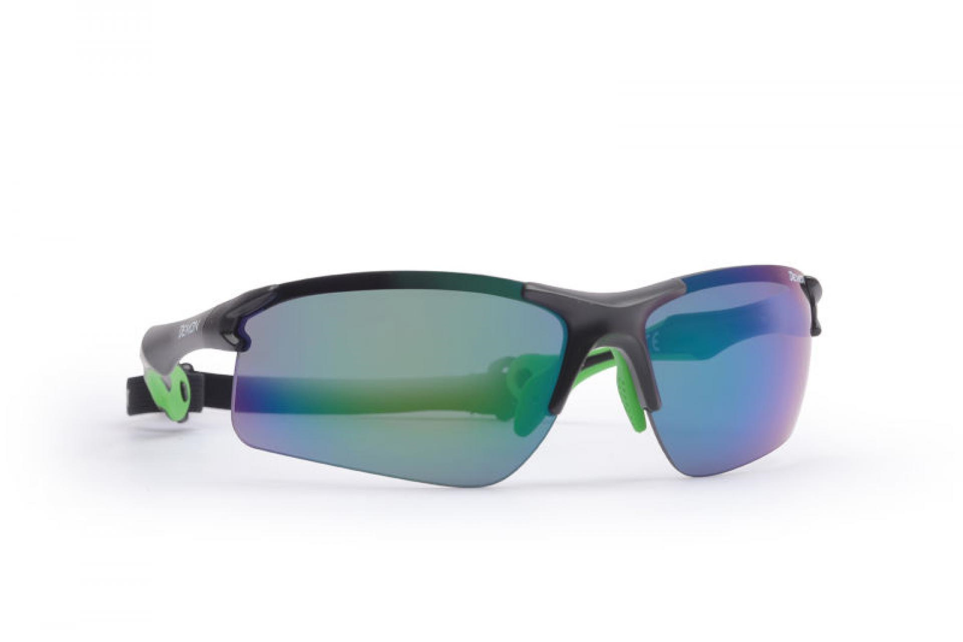Demon Trail DCHANGE - Løbe- og cykelbrille med 3 sæt linser - Sort/grøn   Glasses