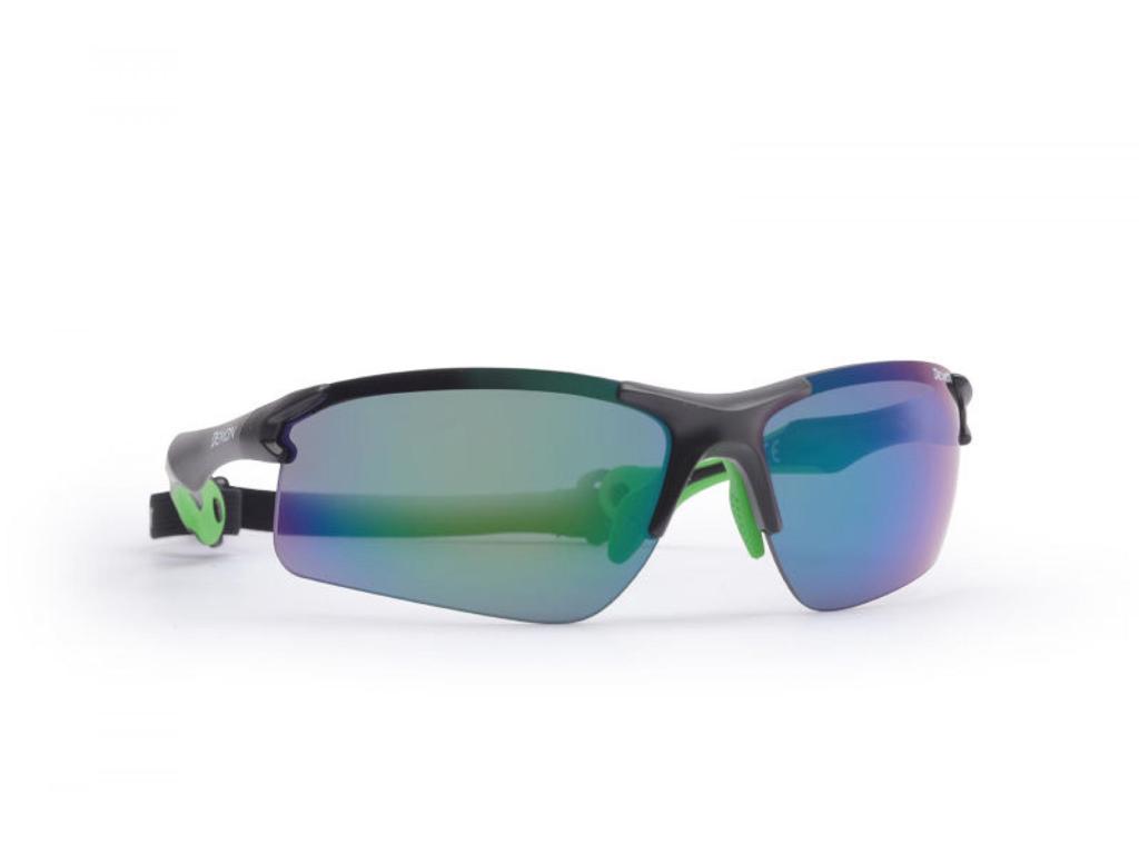 Image of   Demon Trail DCHANGE - Løbe- og cykelbrille med 3 sæt linser - Sort/grøn
