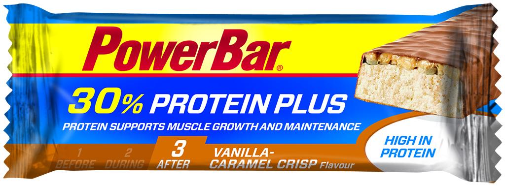 Powerbar 30% Proteinplus - Karamel/Vanilje 55 gram   Proteinbar og -pulver