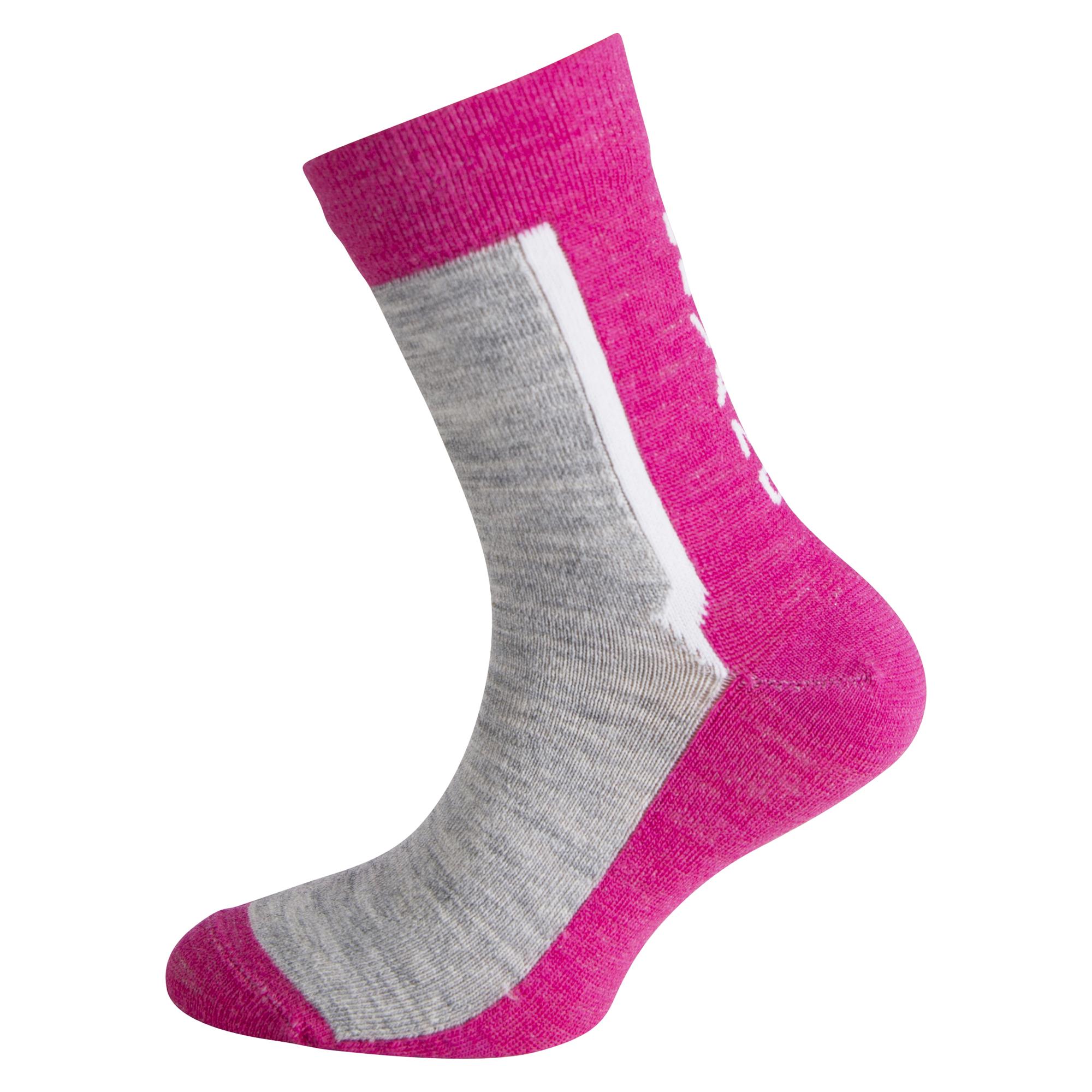 Ulvang Ultra Jr 2 pk - Let uldsok børn - Pink/Grå | Socks